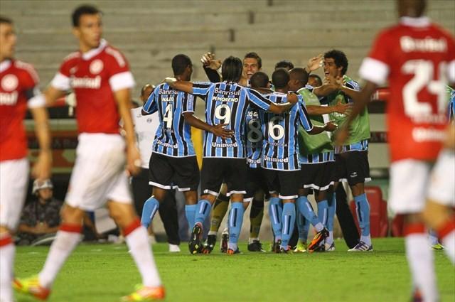 Grêmio fez a festa em sual última visita à beira do rio. (Foto: Lucas Uebel/Grêmio)